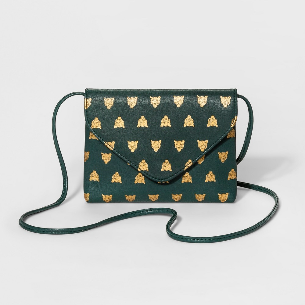 Womens Foil Print Envelope-Flap Crossbody Handbag - Mossimo Supply Co. Green