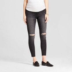 Maternity Crossover Panel® Jeggings - Isabel Maternity™ by Ingrid & Isabel® Black Wash