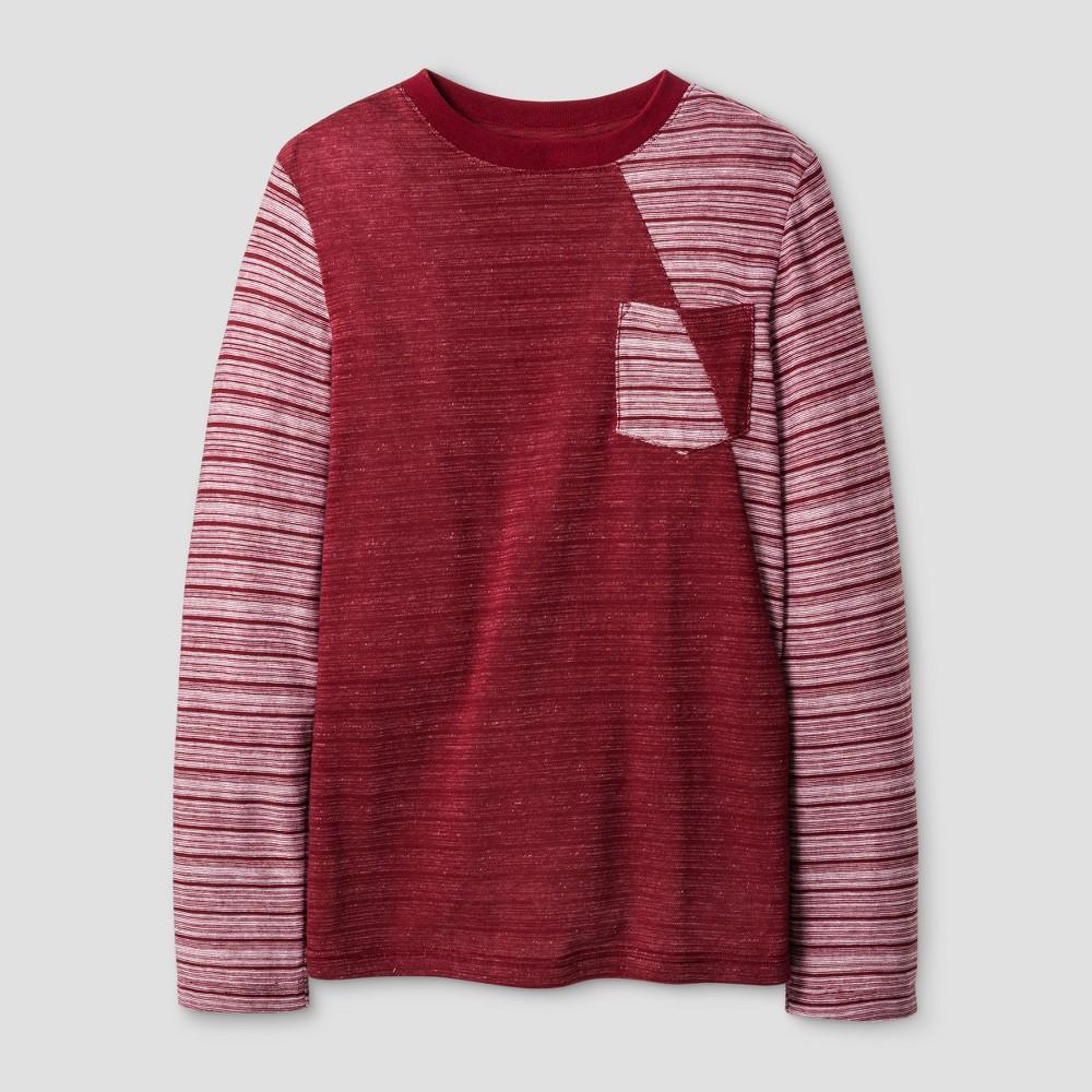 Boys Ribbon Pieced Long Sleeve T-Shirt - Cat & Jack Red XL