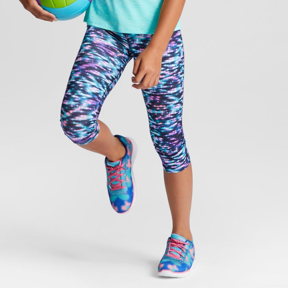 Girls Printed Performance Capri Leggings Print - C9 Champion XL, Multi-Colored
