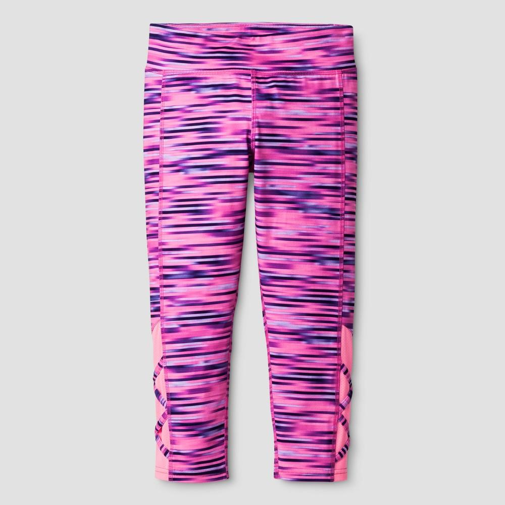 Girls Lattice Capri Leggings - C9 Champion Blurred Pink Spacedye L