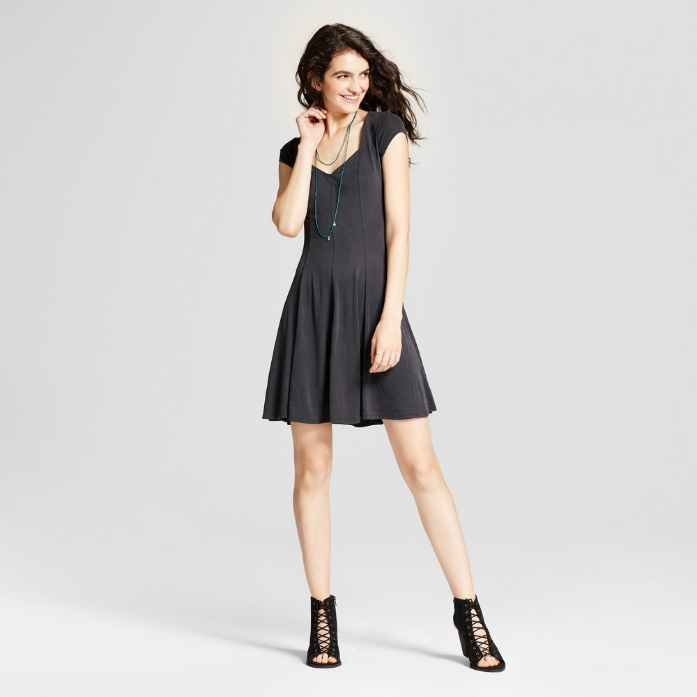 Womens Fit and Flare Skater Dress - Mossimo Supply Co. Black L
