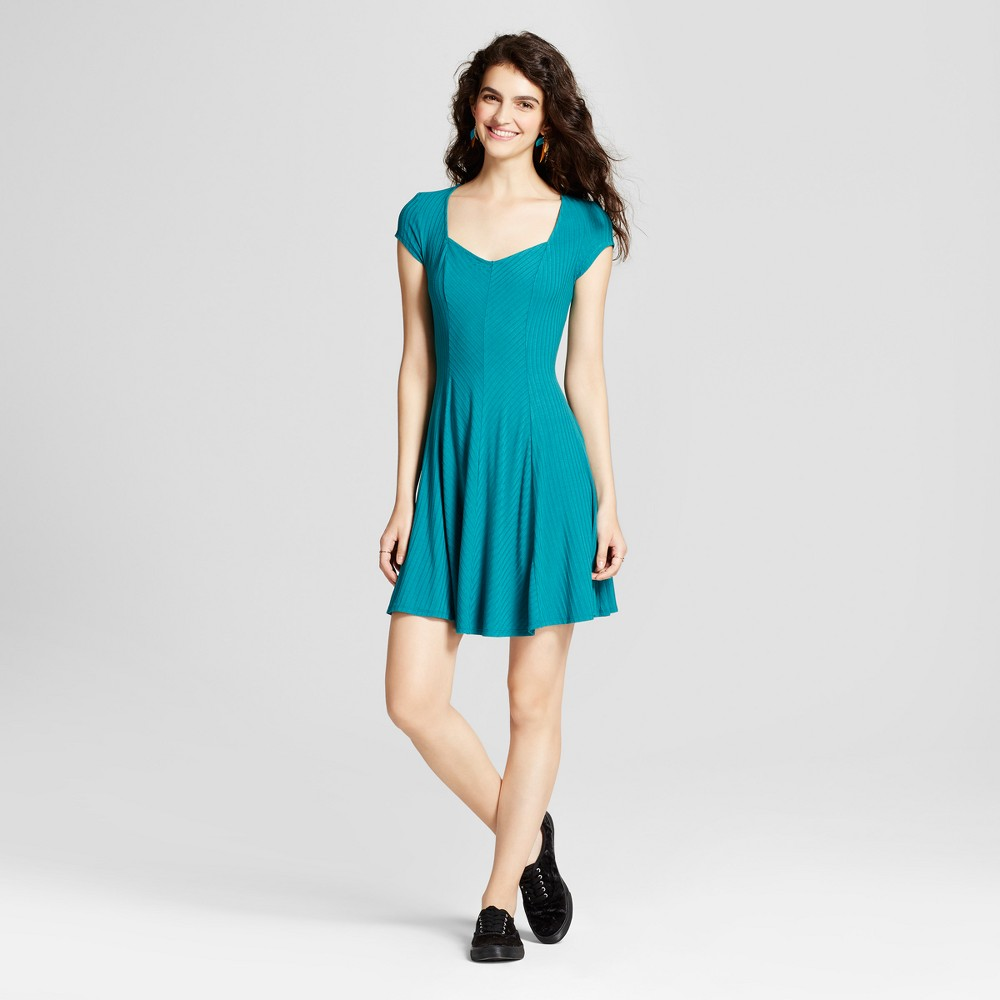 Womens Fit and Flare Skater Dress - Mossimo Supply Co. Teal (Blue) XS