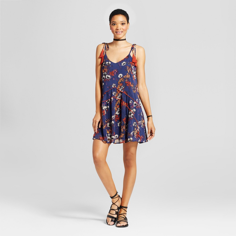 Womens Printed Piped Dress - Mossimo Supply Co. Navy L, Blue