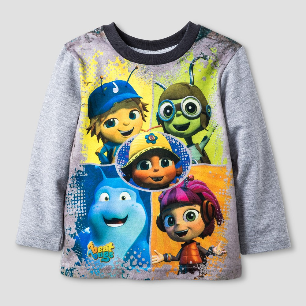 T-Shirt Beat Bugs Gray 18 M, Toddler Boys, Size: 18 Months