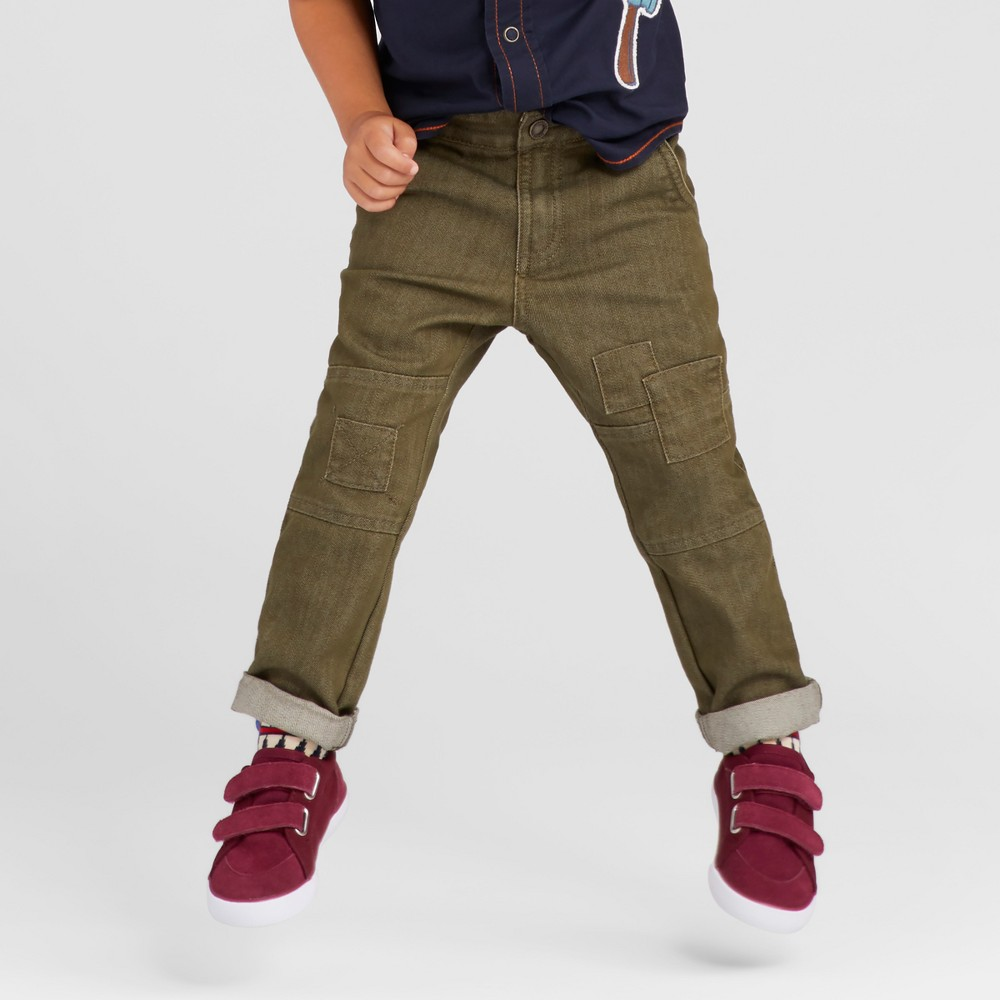Toddler Boys Chino Pants Genuine Kids from OshKosh - Olive 4T, Green