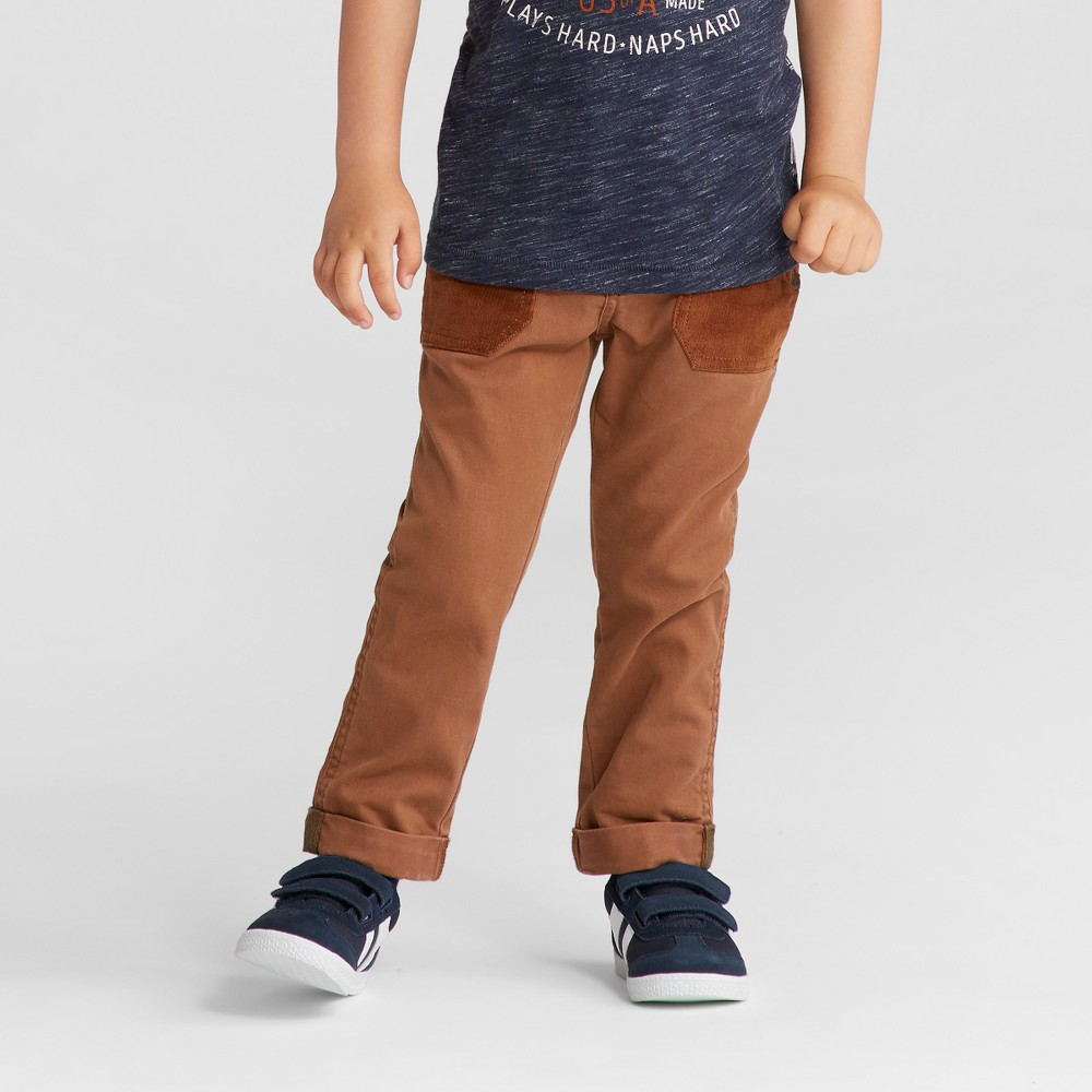 Toddler Boys Chino Pants Genuine Kids from OshKosh - Brown 12M, Size: 12 Months