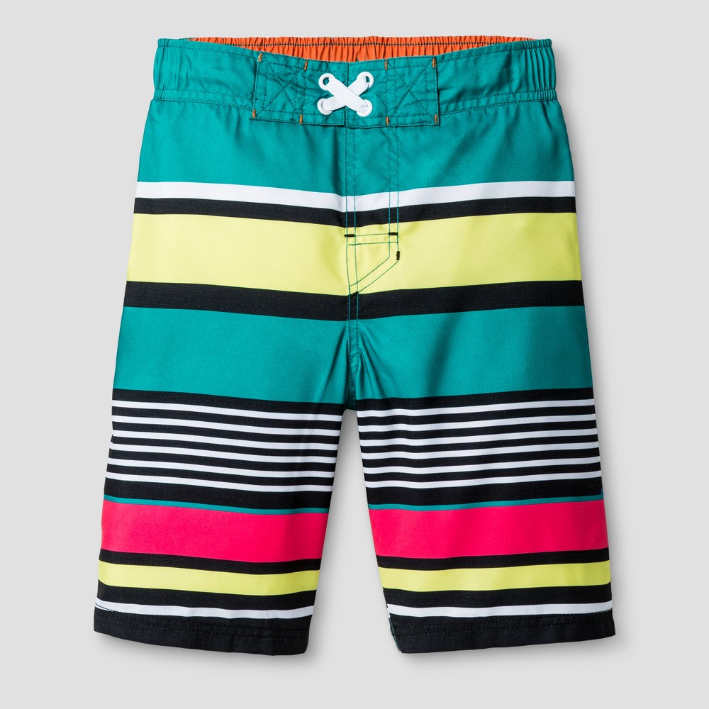 Boys Swim Shorts - Cat & Jack Stripe L, Multicolored