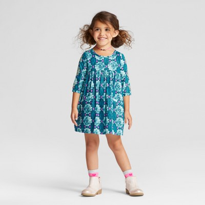 Toddler Girls' A Line Dress - Genuine Kids™ from OshKosh® Dal Lake Blue 12M