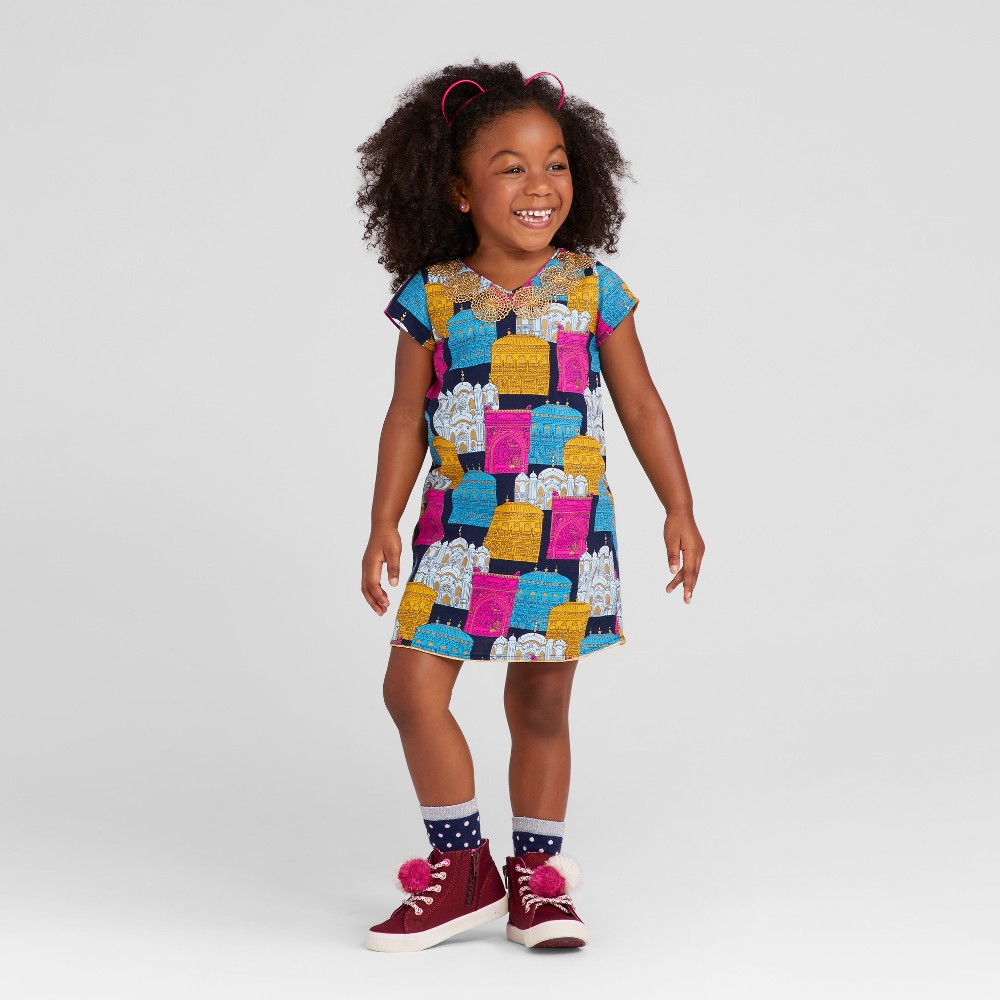 Toddler Girls A Line Dress - Genuine Kids from OshKosh Navy 2T, Blue