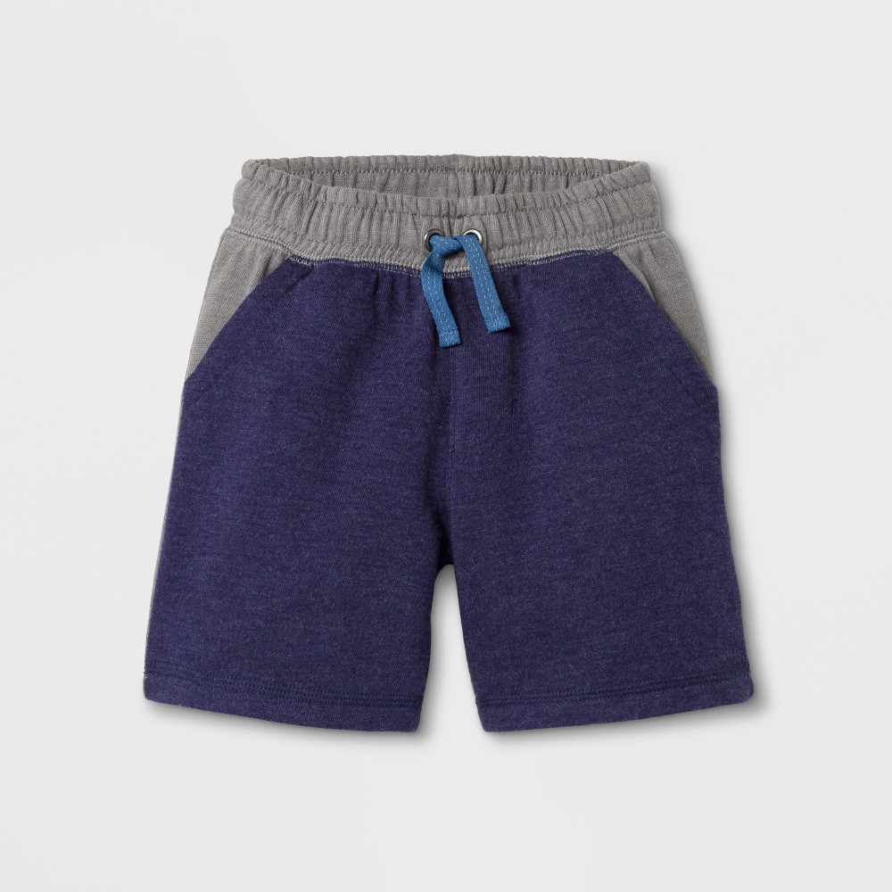 Toddler Boys Lounge Shorts Cat & Jack Navy 12M, Size: 12 Months, Blue
