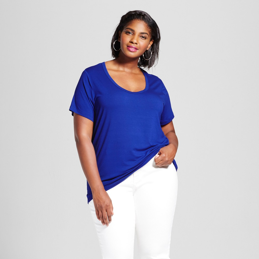 Womens Plus Size Perfect T-Shirt - Ava & Viv Blue Dream 3X