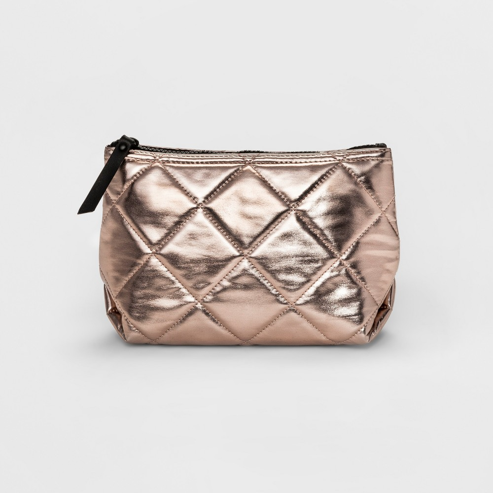 Womens Large Quilted Pouch - Mossimo Supply Co. Rose Gold