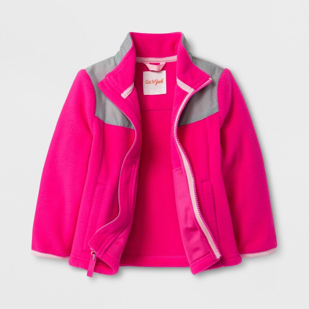 Toddler Girls Fleece Jacket - Cat & Jack Pink 18M