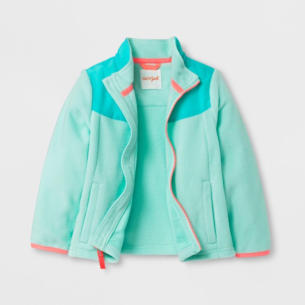 Toddler Girls Fleece Jacket - Cat & Jack Aqua (Blue) 5T