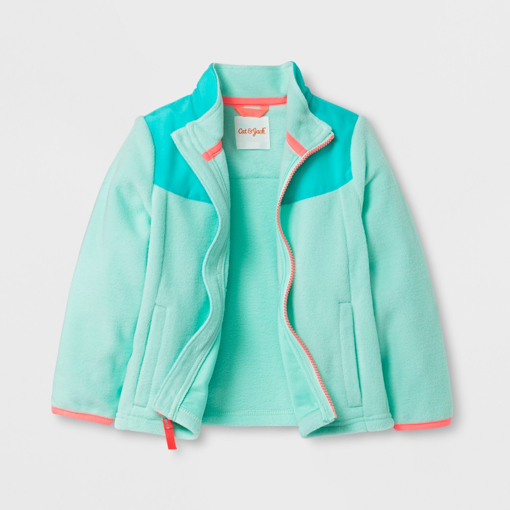 Toddler Girls Fleece Jacket - Cat & Jack Aqua (Blue) 6X