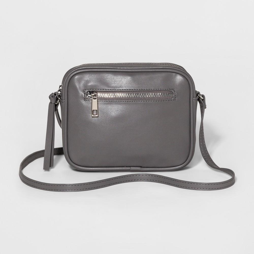 Womens Soft Camera Crossbody Handbag - Mossimo Supply Co. Gray, Size: Small
