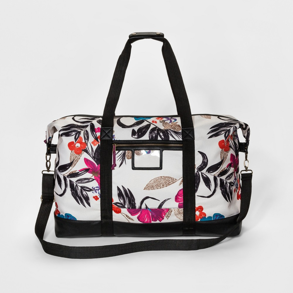 Womens Tropical Print Nylon Weekender - Mossimo Supply Co. White