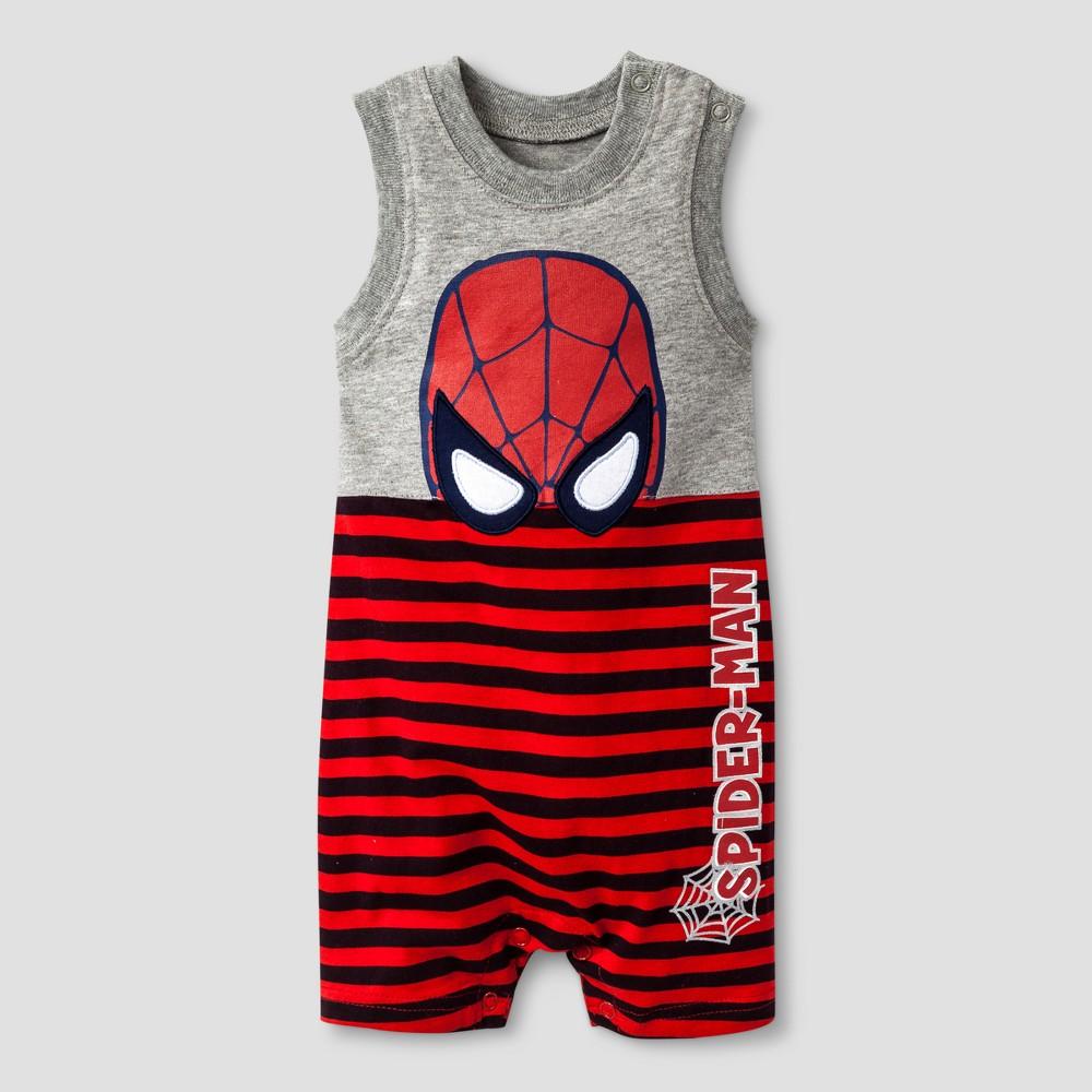 Baby Boys Spider-Man Romper Red 18 M