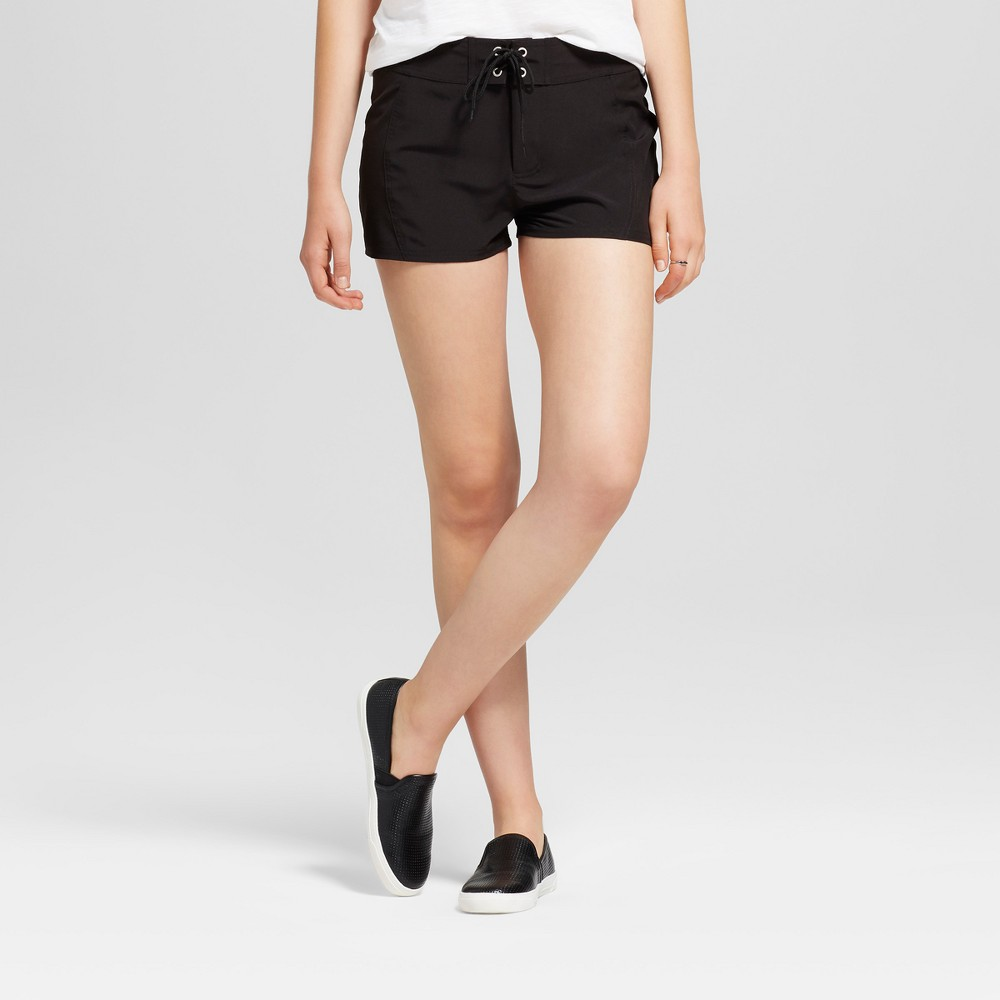 Womens Tie Front Shorts - Mossimo Supply Co. Black M