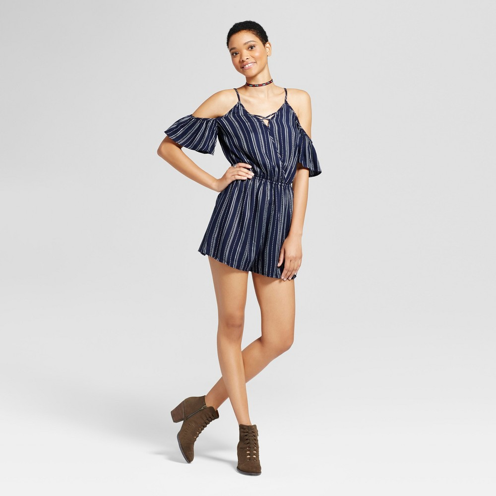 Womens Surplice Romper Navy S - Mossimo Supply Co., Blue