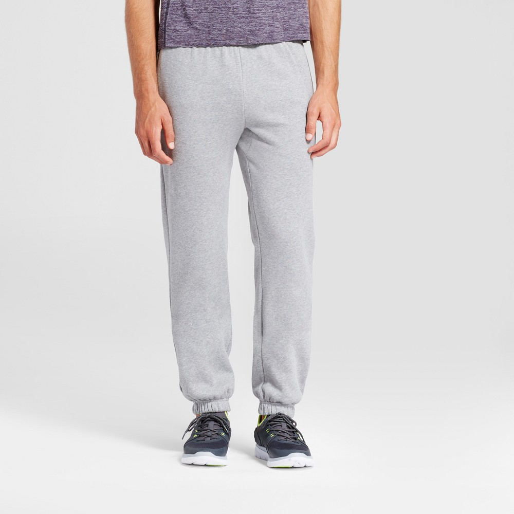 Mens Authentic Cotton Fleece Sweat Pants - C9 Champion Stone Heather L