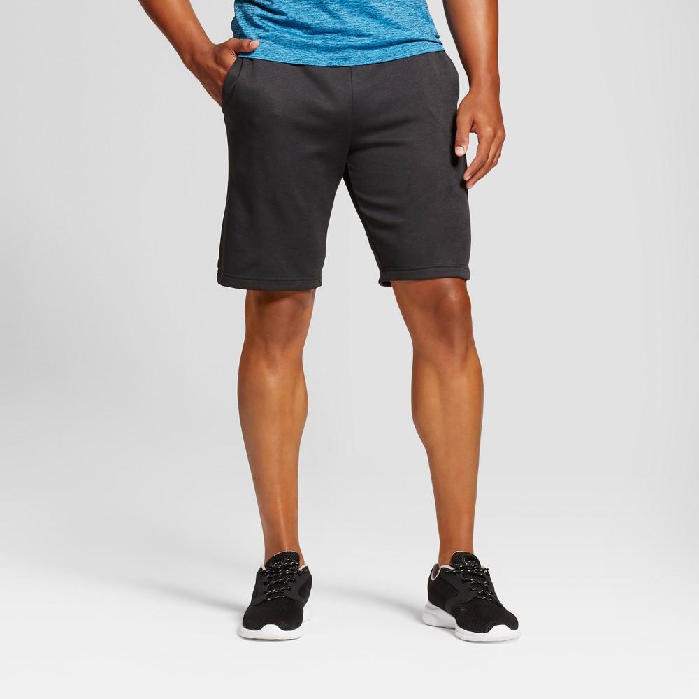 Mens Tech Fleece Shorts - C9 Champion Black Heather L