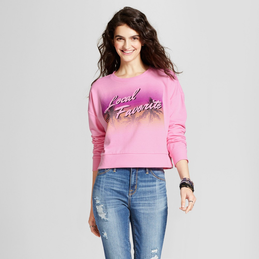 Womens Pullover Graphic Sweatshirt - Mossimo Supply Co. Pink XL