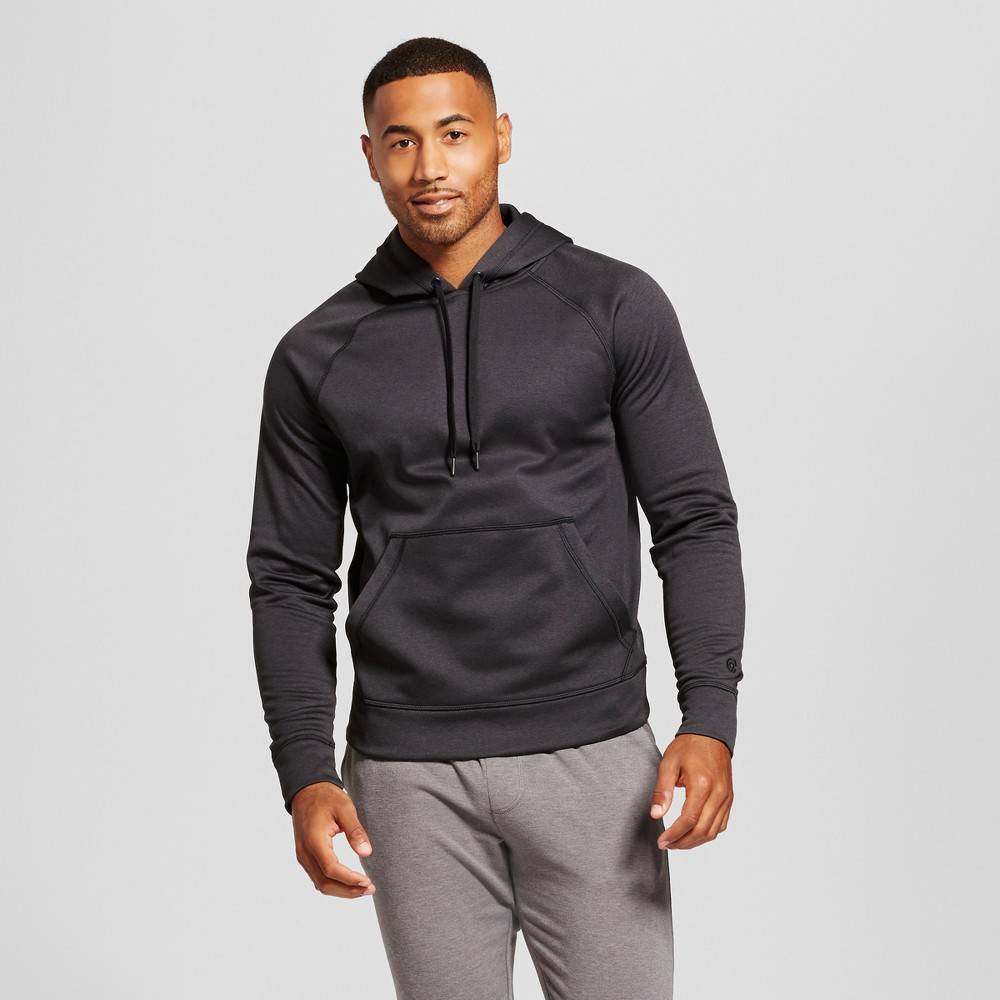 Mens Tech Fleece Full Zip - C9 Champion Black Heather XL