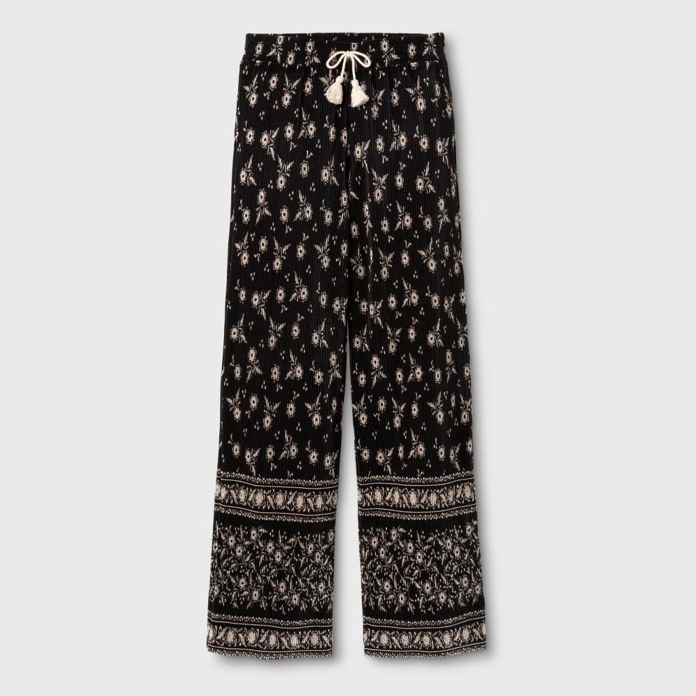 Girls Fashion Wide Leg Pants - Art Class Black/Ivory S, Black White
