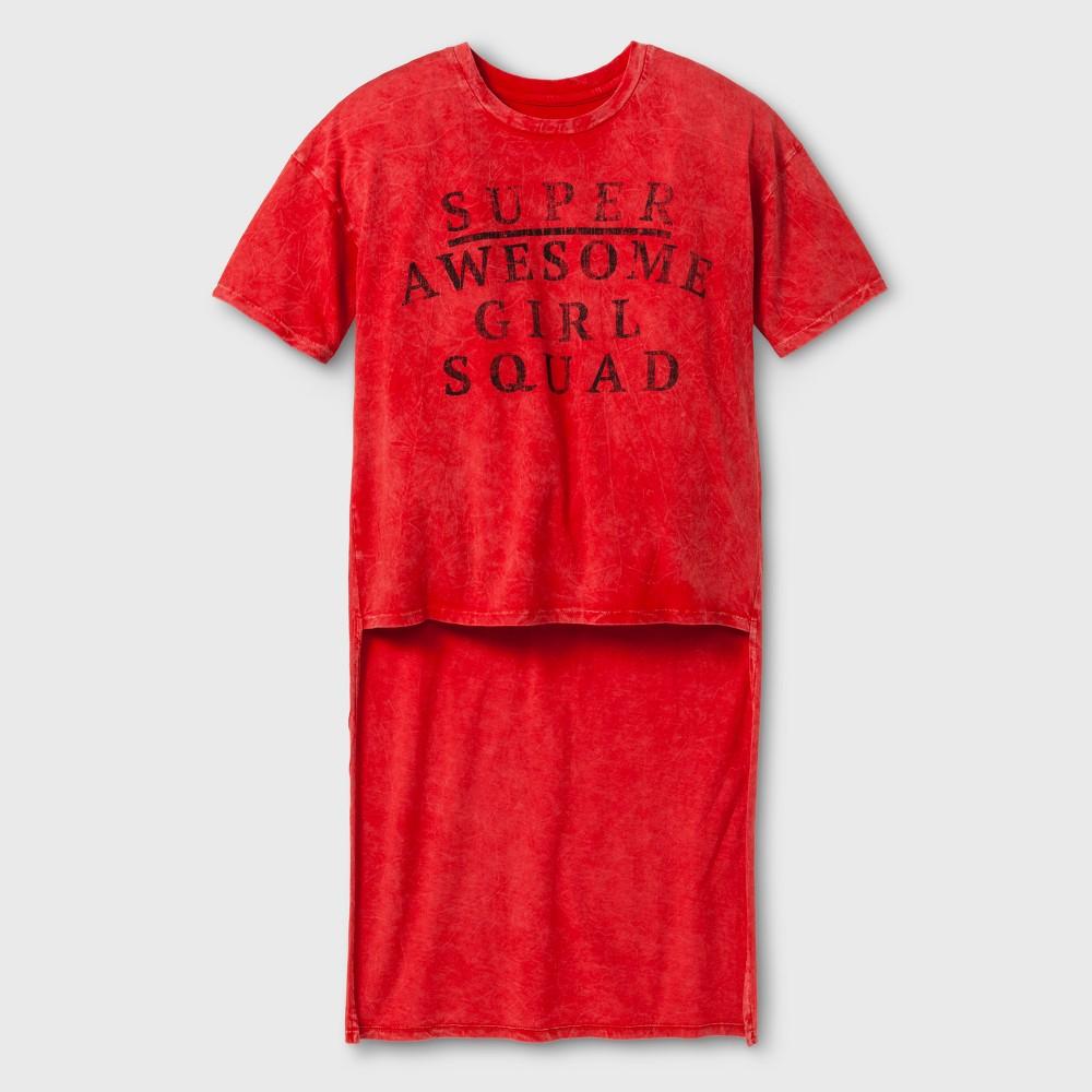 Girls Hi Lo T-Shirt - Art Class Wild Cherry XS, Orange