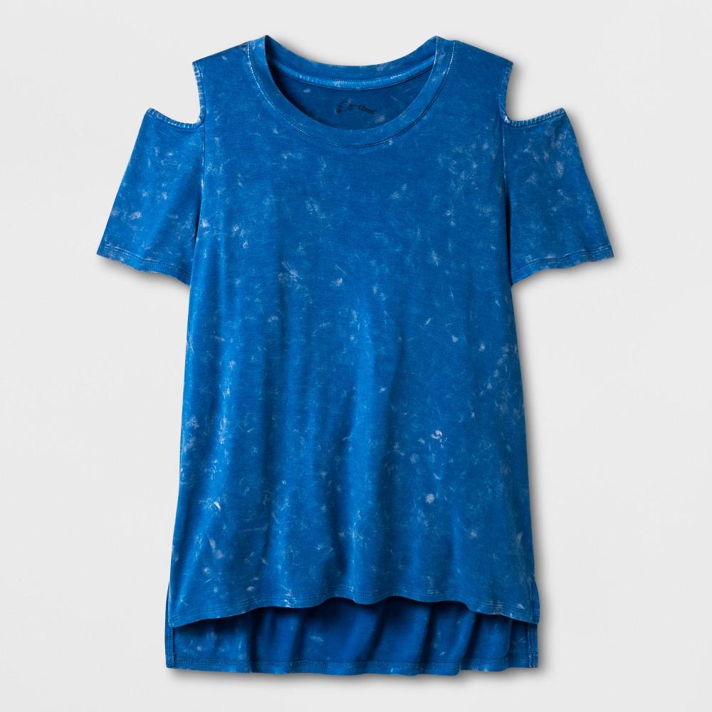 Girls Cold Shoulder Knit T-Shirt - Art Class Turquoise S