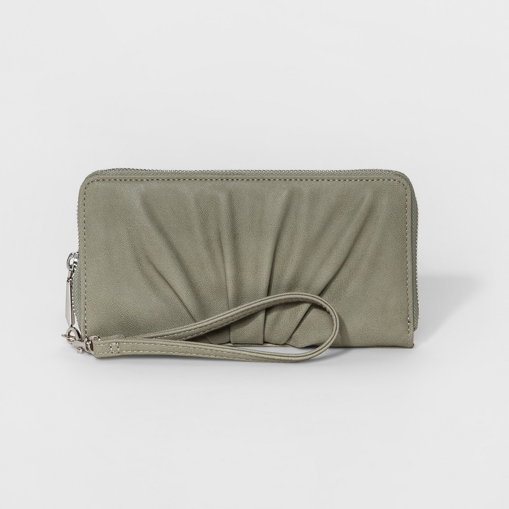 Womens Pleated Zip Around Wallet - Mossimo Supply Co. Seafoam