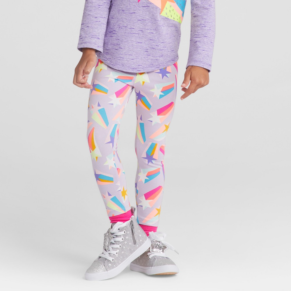 Toddler Girls Leggings Pants - Cat & Jack Soft Lilac 5T, Purple