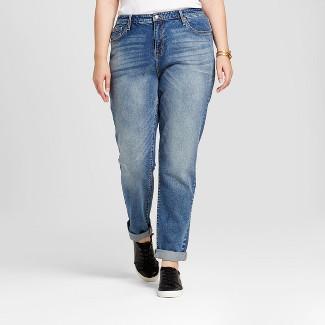 Plus Size Boyfriend Jeans : Target