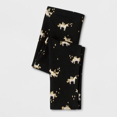 Toddler Girls' Leggings Pants - Cat & Jack™ Black 12M