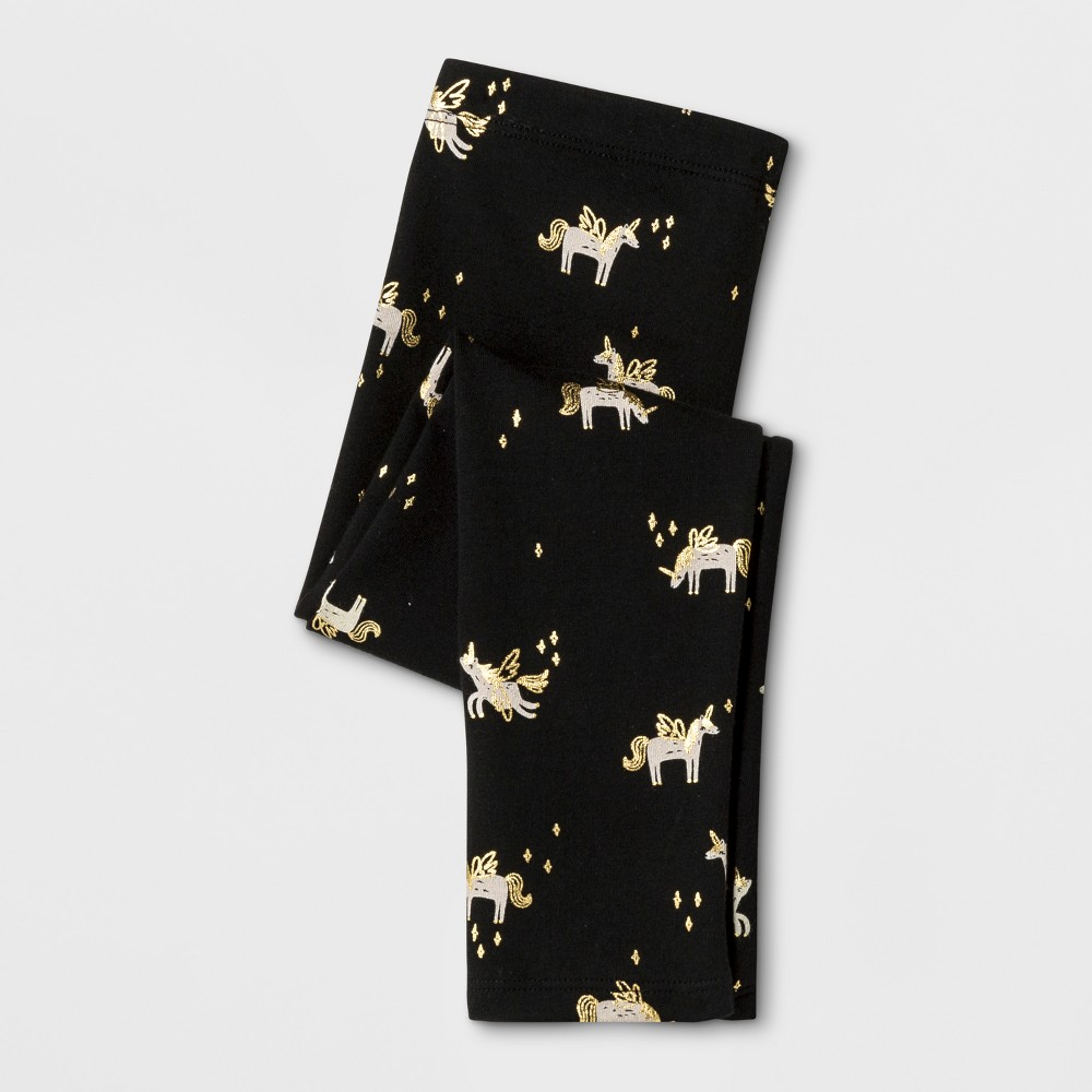 Toddler Girls Leggings Pants - Cat & Jack Black 18M, Size: 18 M