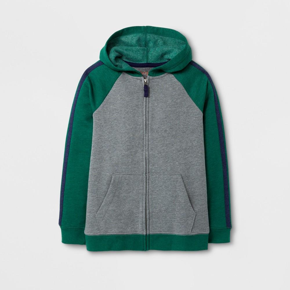 Boys Fleece Sweatshirt - Cat & Jack Green/Gray L