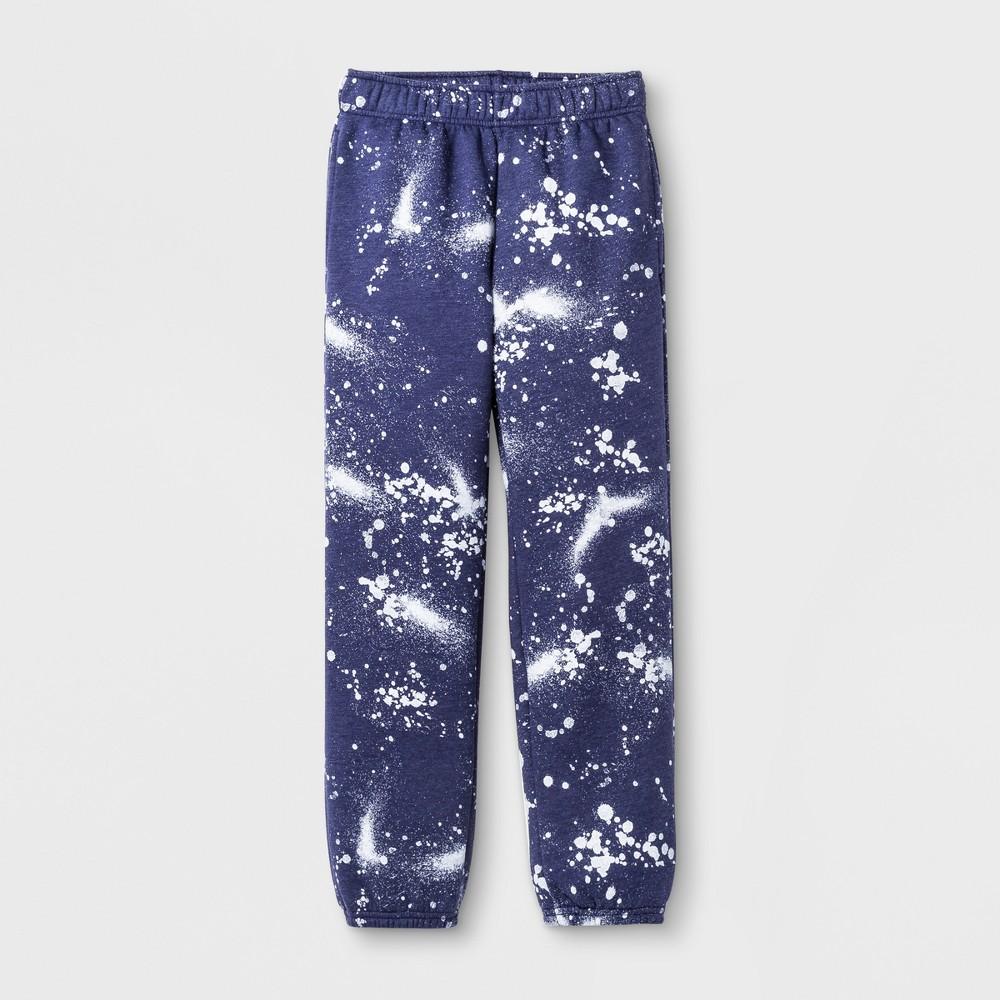 Boys Splatter Fleece Sweatpant - Cat & Jack Blue XL