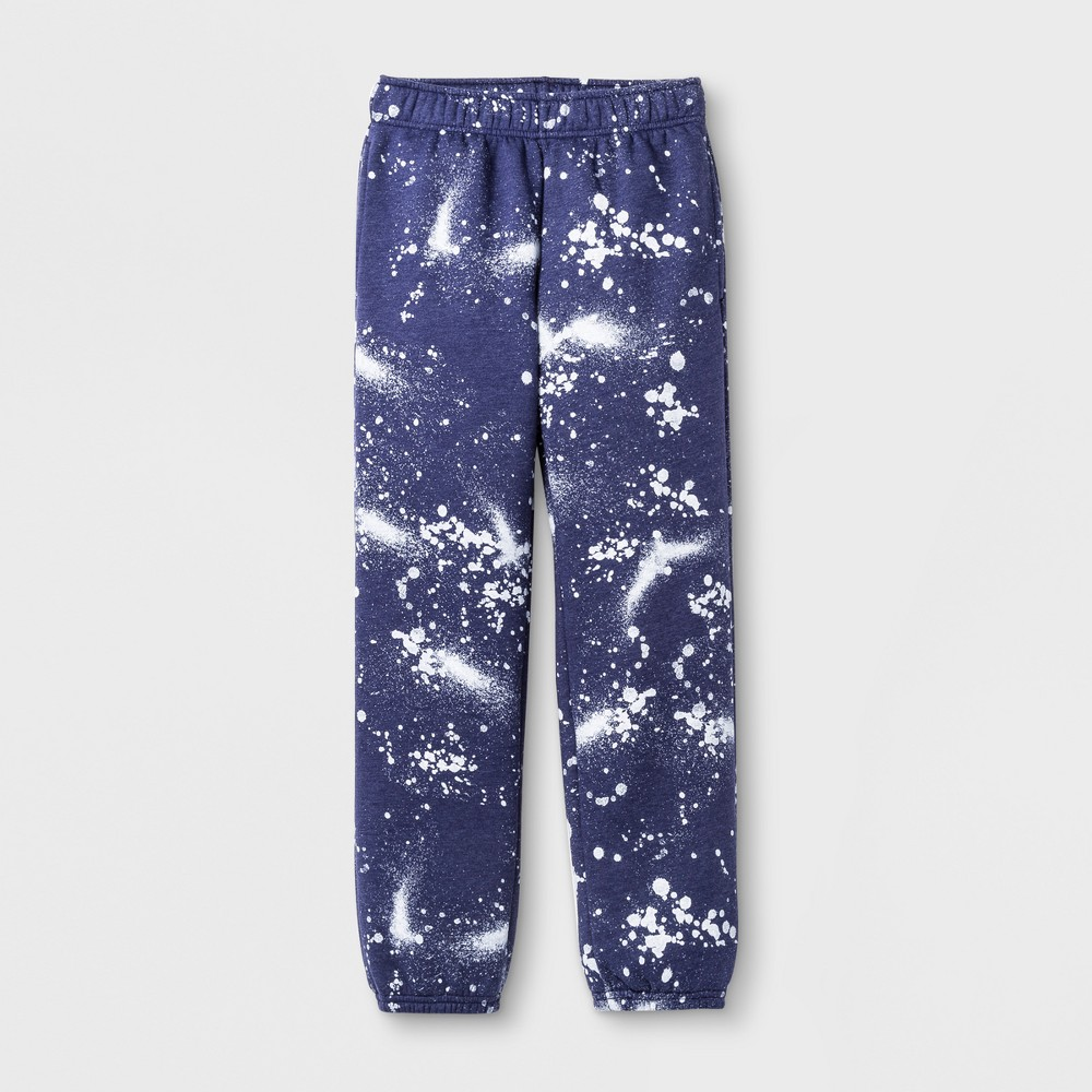 Boys' Splatter Fleece Sweatpant - Cat & Jack Blue Xxl