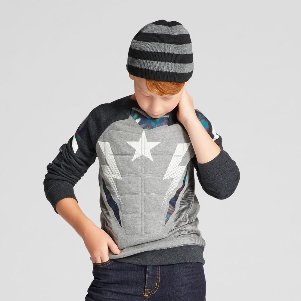 Boys Character Crew Sweatshirt - Cat & Jack Heather Black Xxl