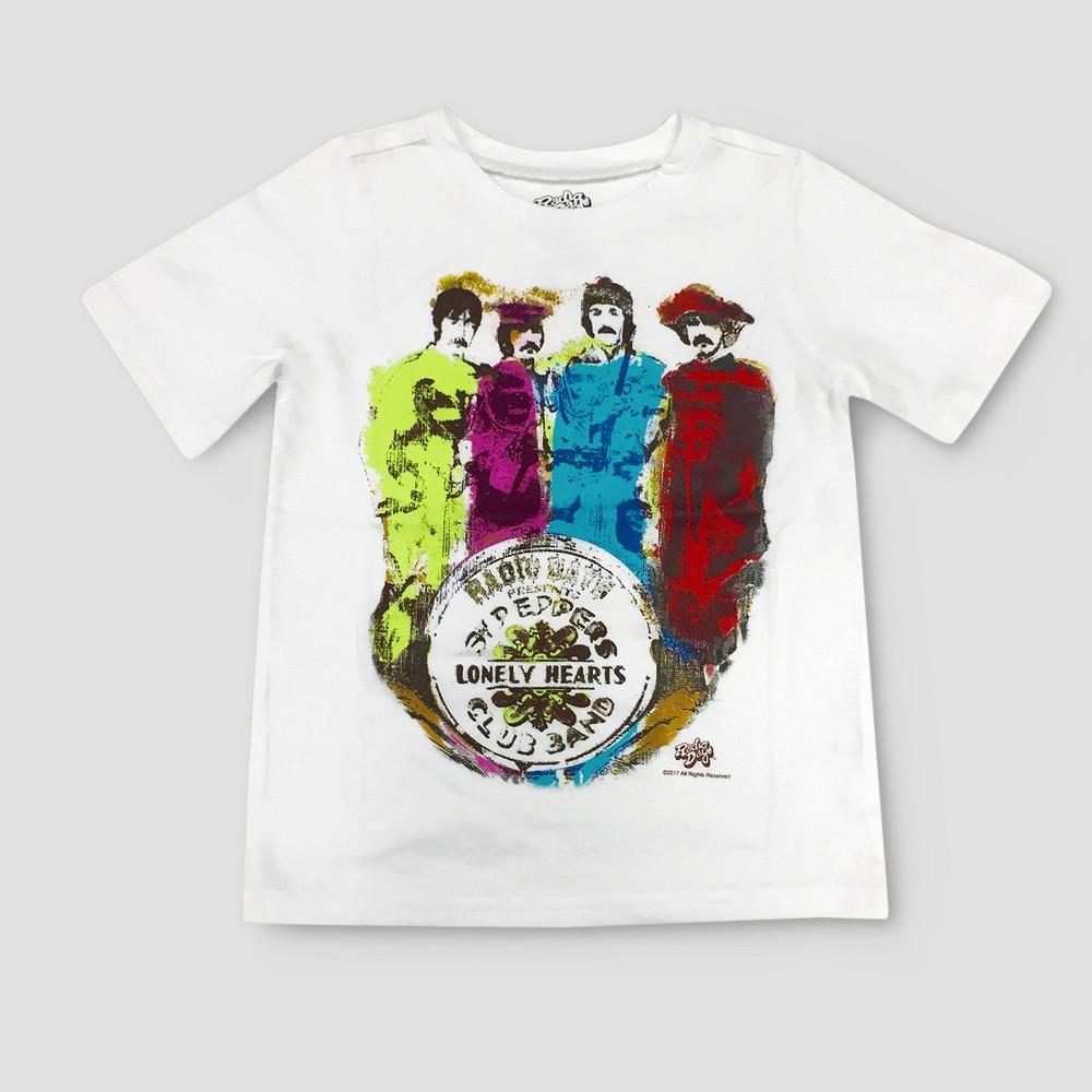 Toddler Boys Beatles Peppers Short Sleeve T-Shirt - White 5T