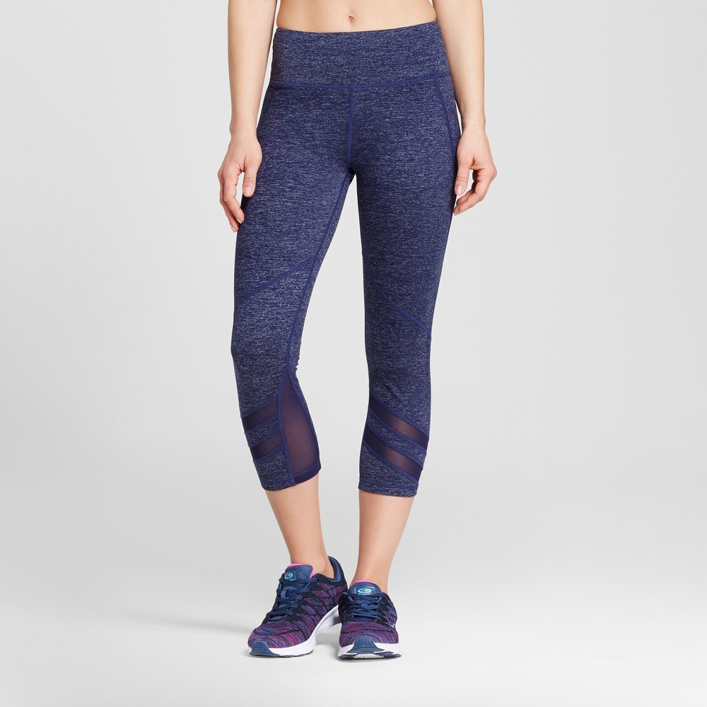 Love Life Live - Womens Core Capri Leggings - Indigo Blue L