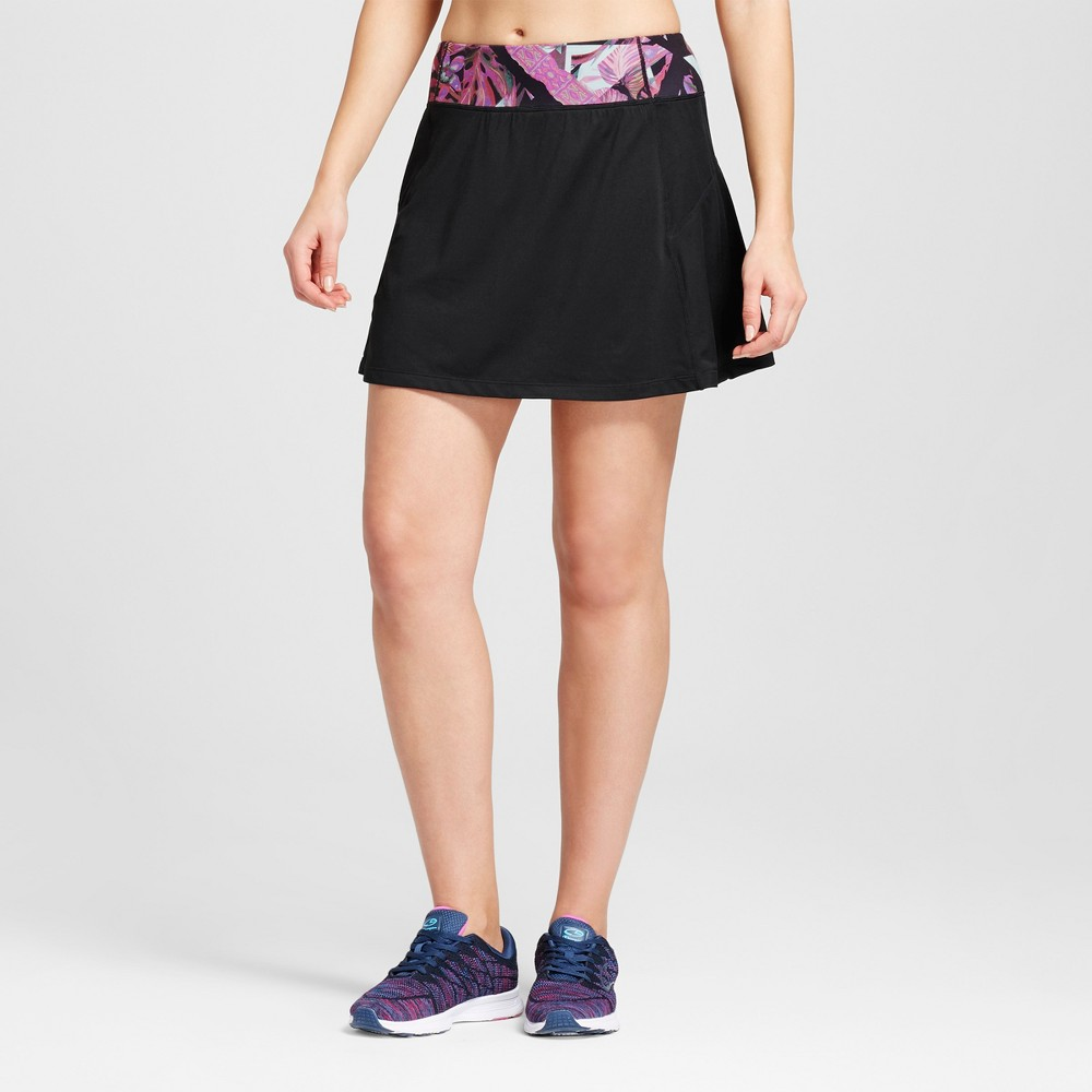 Love Life Live - Womens Skort with Printed Waistband - Black/Purple S