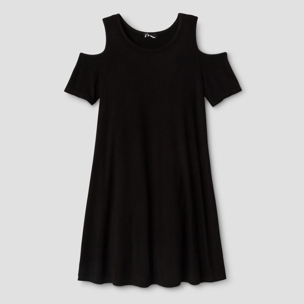 Girls Cold Shoulder Shift Dress - Art Class Black XL