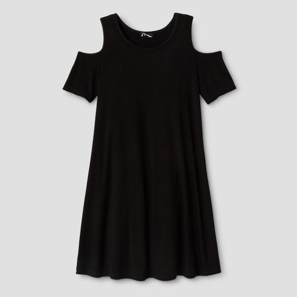 Girls Cold Shoulder Shift Dress - Art Class Black M