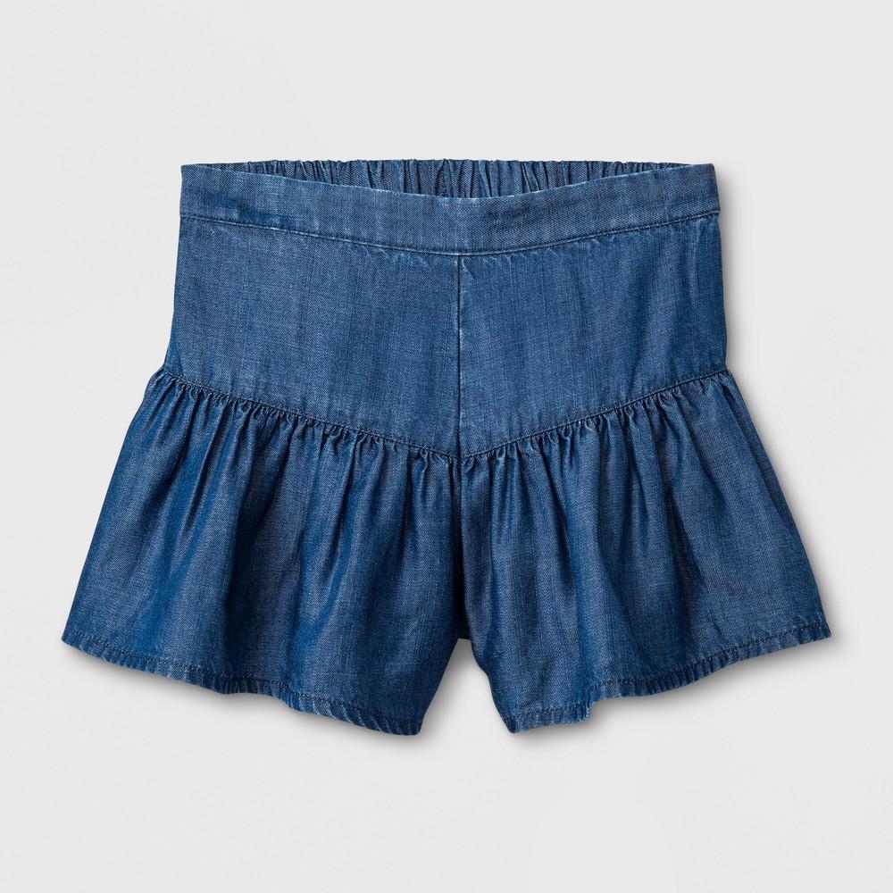 Toddler Girls Denim Shorts - Genuine Kids from OshKosh Chambray 18M, Size: 18 M, Blue