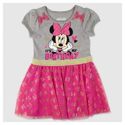 Toddler Girls' Minnie Mouse 'Its My Birthday Dress' - Pink