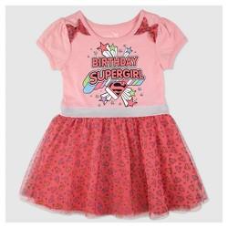 Toddler Girls' Supergirl Birthday Dress - Pink