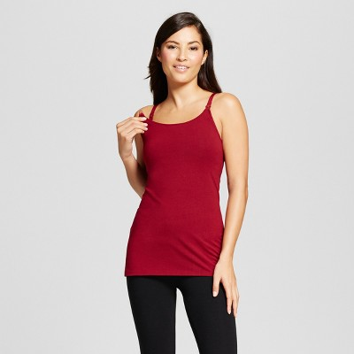 Women's Nursing Cotton Cami - Gilligan & O'Malley™ - Bing Cherry S